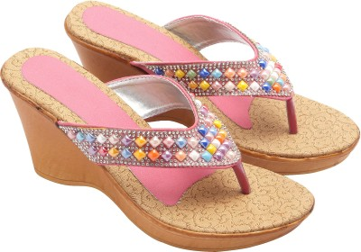 Royal Collection Women Pink Wedges