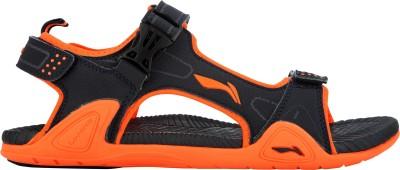 Li-Ning Men Grey, Orange Sandals