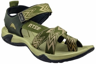 RTS Men Green, Camel Sandals