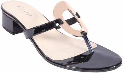 Wet Blue Women Black Heels
