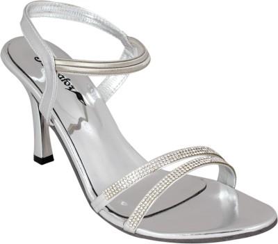 Bellafoz Women Silver Heels