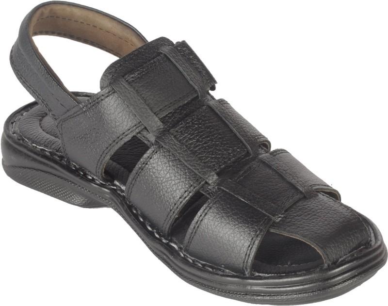ASKFNA Men Black Sandals