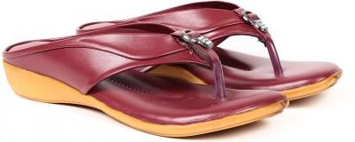 Ka Fashion Women Maroon Flats