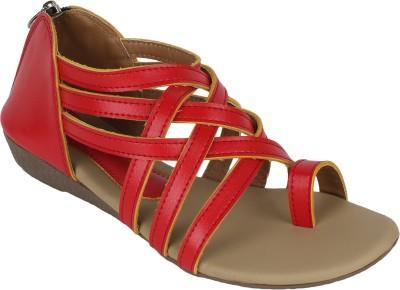 Omnesta Women Red Flats