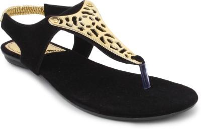 SRS Black Women Casual Sandal Women Black Flats