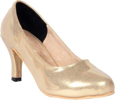 Funku Fashion Women Gold, Gold Heels