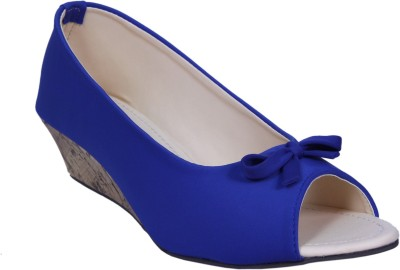 HannahTraders Women Blue Wedges