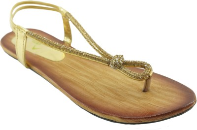 AM by Penny Women Gold Flats