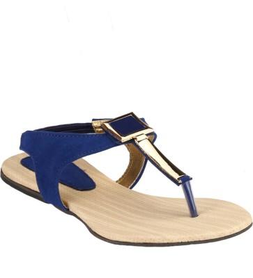 Afrojack Women Blue Flats