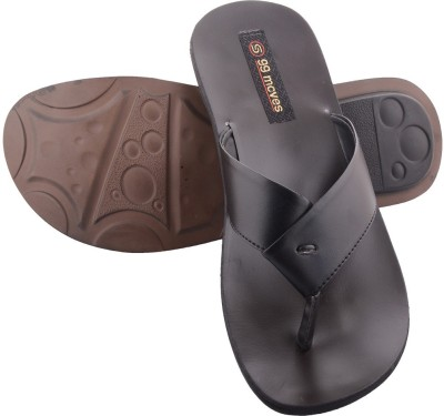 99 Moves Men Black Sandals