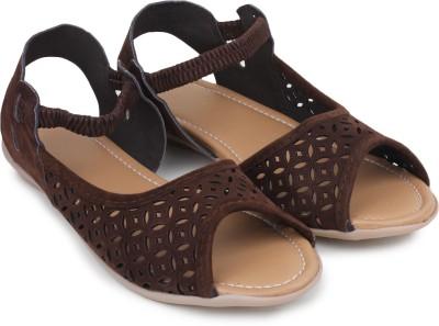 Bonzer Women Brown Flats