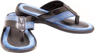 Canvera Men Black, Blue Sandals