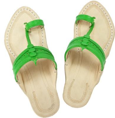 eKolhapuri Women Green Wedges