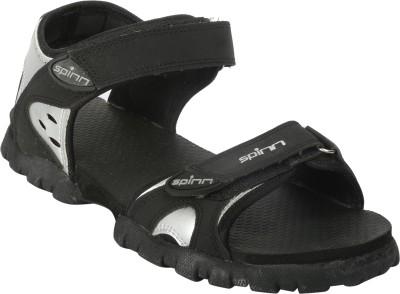 Spinn Men Black, Grey Sandals