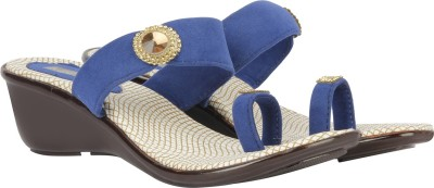 Azores Women Blue Wedges