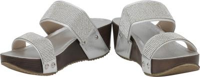 Rialto Women Silver Wedges