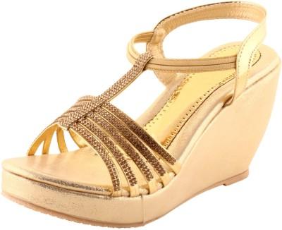 Leo Women Gold Wedges