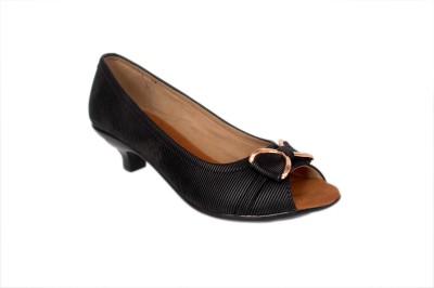 Studio 9 Peep Toe Women Black Heels