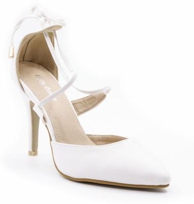 Belle Gambe Women White Heels