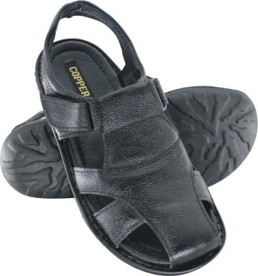 Copper C-7203 Men Black Sandals