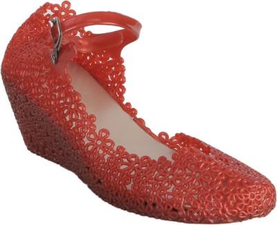 Keyza Women Red Wedges