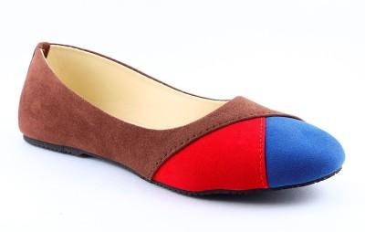 Cenizas Cross One Women Blue, Brown, Red Flats