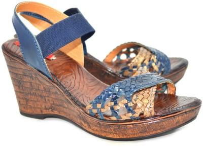 Shoedeal Women Blue Wedges