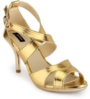 Just Wow Women Gold Heels