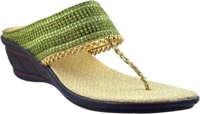 Supreme Leather Women Gold Heels