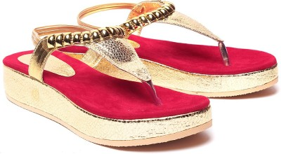 Laila Collection Women Red Flats