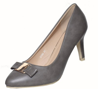 Heels n Wedges Women Grey Heels