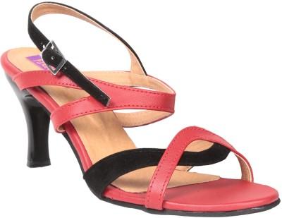 Fiorella Women Red, Black Heels