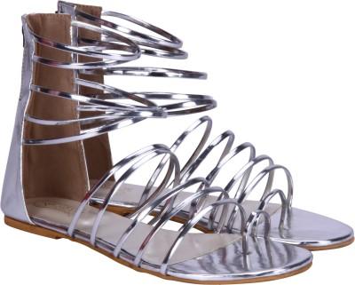 Fashion Mafia Women Silver Flats