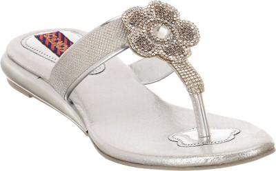 Brandvilla Women Silver Flats
