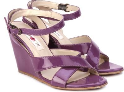 Enroute Women Women Purple Wedges