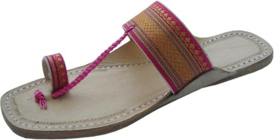 Divyam Leather Crafts Women Pink Flats