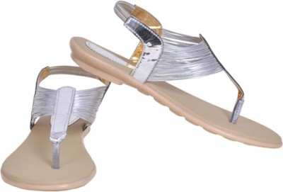 Shoe Dice Women Silver Flats