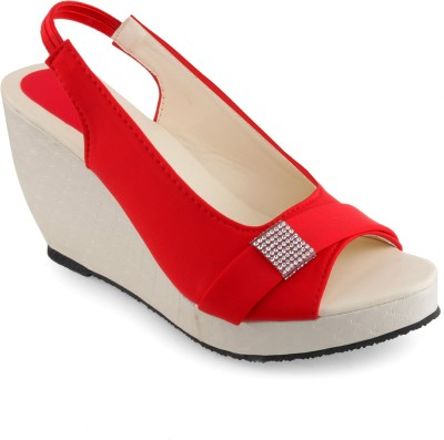 Shoe Lab Women Red Wedges