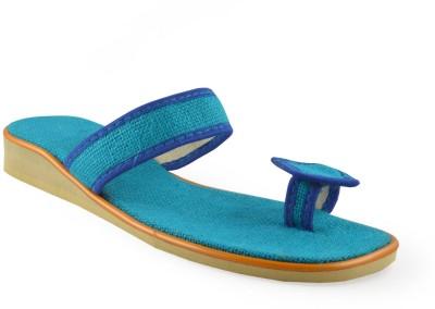 Kakolikrishti Women Blue Flats
