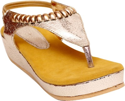 Unique Selection Women Yellow Wedges