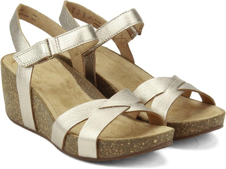 fe679247cdcf4d Clarks Temira Compass Gold Metallic Women Sports Sandals
