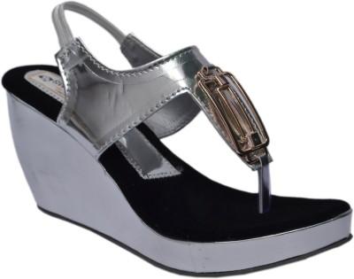 Aadolf Women Grey Wedges