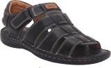 Eagle Comfort Men Black Sandals