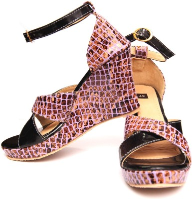 Oh Feet ! Women Black Wedges