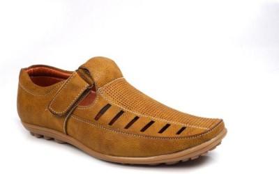 VEBERO Men Camel Sandals