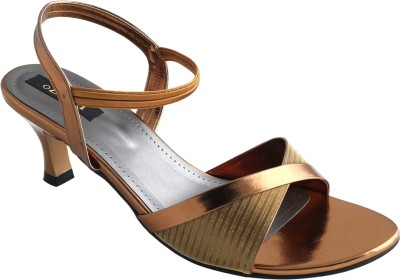 Ozuri Women Gold Heels