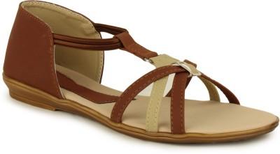 Hansx Women Brown Flats