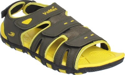 Vomax Men Olive, Yellow Sandals