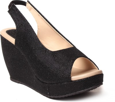Unique Selection Women Black Heels