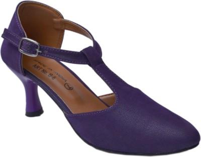 Belle Femme Women Purple Heels